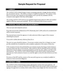 Simple Rfp Template rfp template 7 documents in pdf word