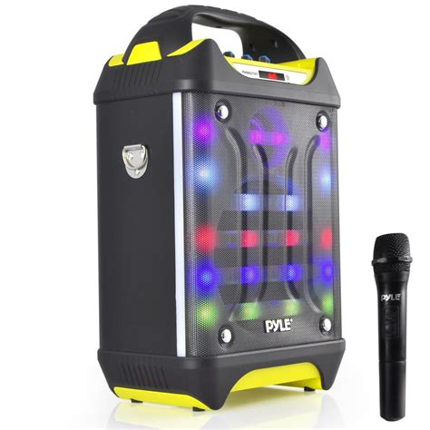 portable speaker with lights pyle pwma275bt home and office portable speakers