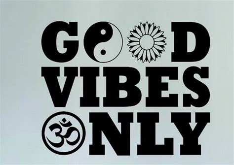 Buddha Wall Mural aliexpress com buy yoga vinyl wall decal good vibes only