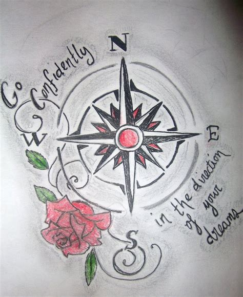 compass tattoo with quote compass design by latchphoto on deviantart