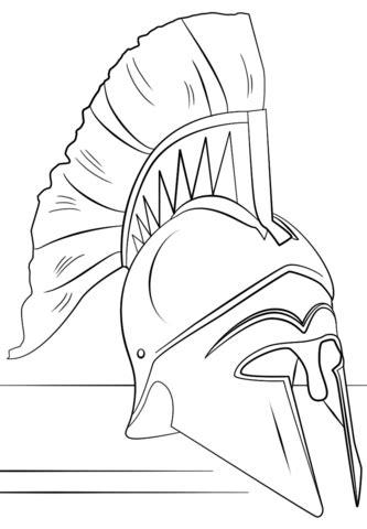 roman soldier helmet coloring page free printable