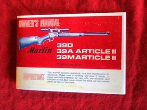 Marlin Owners Manual Ebay