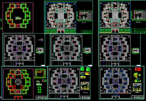 tourist hostel plants  dwg design block  autocad