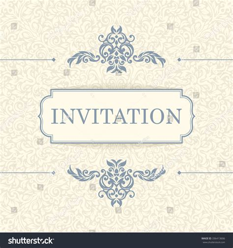 vintage card template vintage invitation card template stock vector 336413606