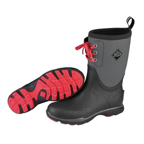 waterproof rubber boots for muck arctic excursion lace mid waterproof insulated rubber