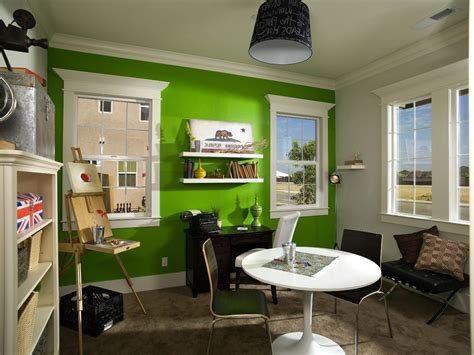green accent wall green accent walls contemporary with painting easel