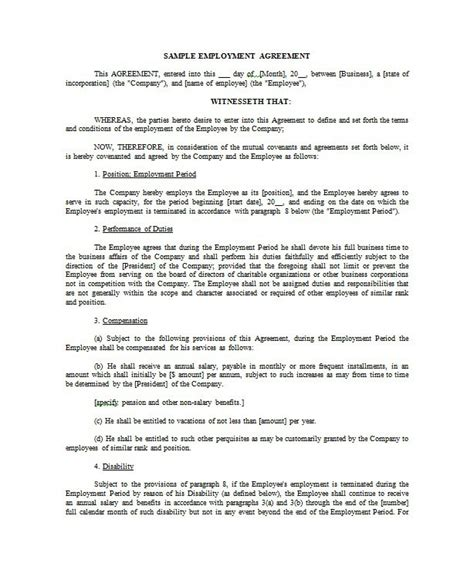 casual employment agreement employment agreement casual