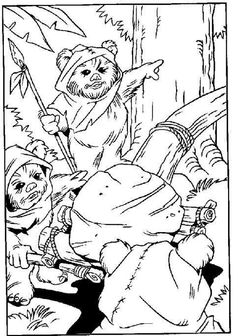 Free Coloring Pages Of Star Wars At St Ewok Coloring Page