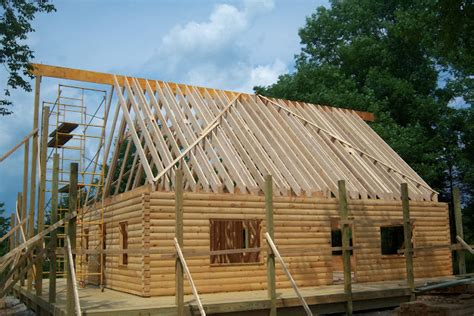 Cabin Roof Construction by What Roof System Should You Choose For Your Log Home