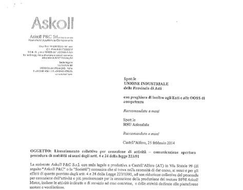 lettere di licenziamento lettera di licenziamento collettivo ai lavoratori dell