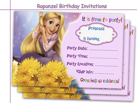 printable rapunzel invitations amazing rapunzel birthday invitations holidaypartystar