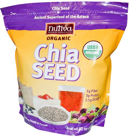 Organic Chia Seed nutiva organic chia seed 32 oz 907 g iherb