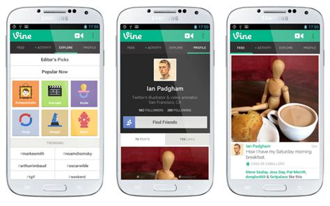 effective layout design in android vine bans porn from their android app