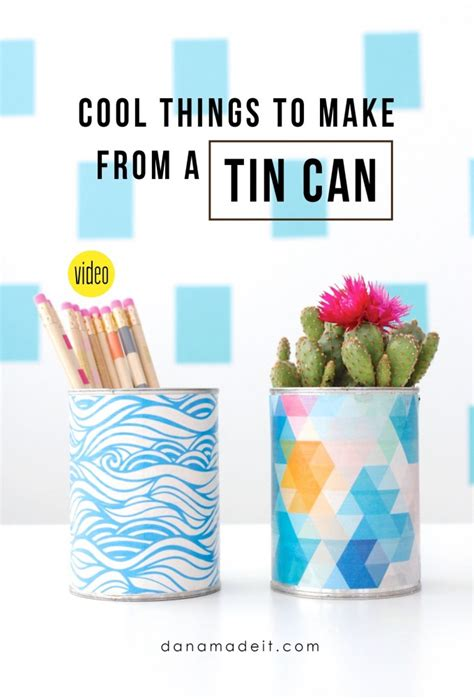 cool things in 2016 new video cool things to make with a tin can made