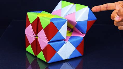 Simple Paper Crafts Cubes - how to make a paper infinity cube easy method step by