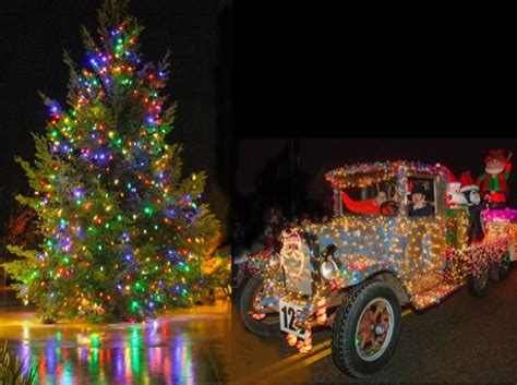 tractor christmas tree lights geyserville tree lighting and tractor parade sonoma county official site