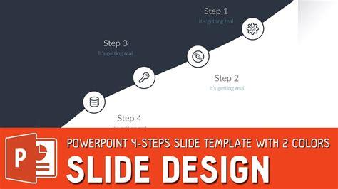 tutorial powerpoint design slide design tutorial powerpoint 4 steps slide template