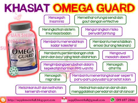 Minyak Ikan Omega Guard supplement4all specially created 4 you khasiat omega