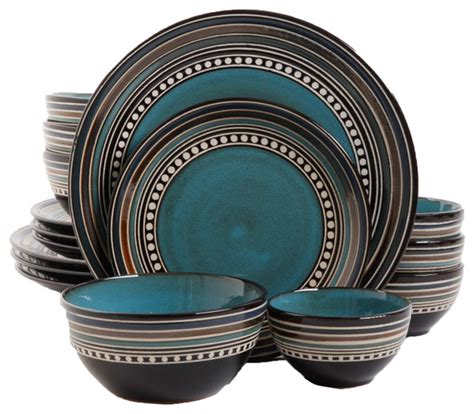 Paula Deen Dining Room Furniture by Elite Caf Versailles 16 Piece Dinnerware Set Blue