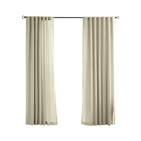 how to clean polyester curtains shop solaris canvas solid 96 in cream polyester back tab