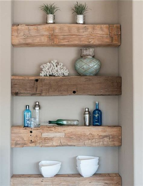 rustic bathroom shelves 25 best regal holz ideas on pinterest zur 252 ckgewonnenes