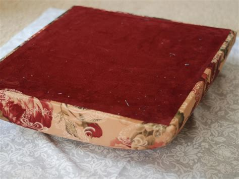 how to cover an ottoman how to re cover an upholstered ottoman how tos diy