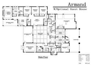 house plans with attached guest house the armand adobe homes florida