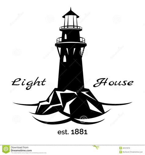 lighthouse logo stock vector image of safe ocean coast
