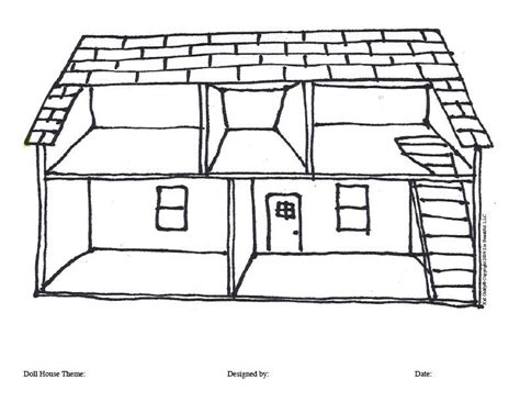 coloring pages of things inside a house dollhouse clipart 50
