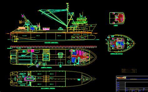 boat plans dwg boat bibliocad