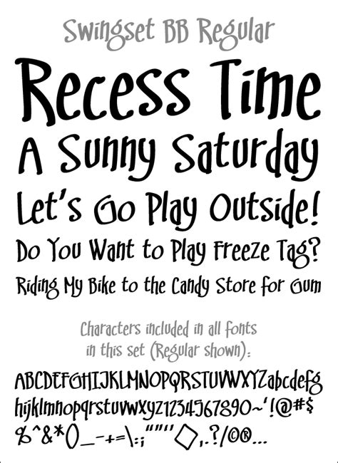 swing set font blambot comic fonts lettering