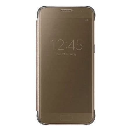 Samsung Clear View Cover S7 Gold by Official Samsung Galaxy S7 Clear View Cover Gold