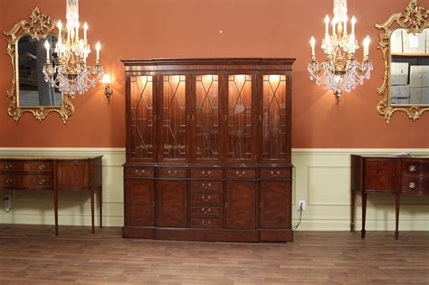 Traditional High End Mahogany China Cabinet