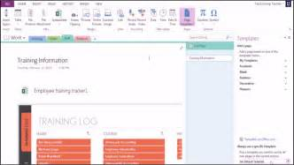 Ms Word Templates 2013 by Microsoft Onenote 2013 Using Templates