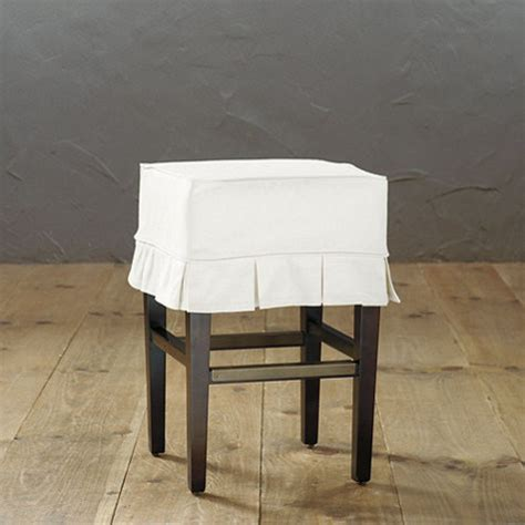 slipcovered counter stools mallory slipcovered counter stool traditional bar