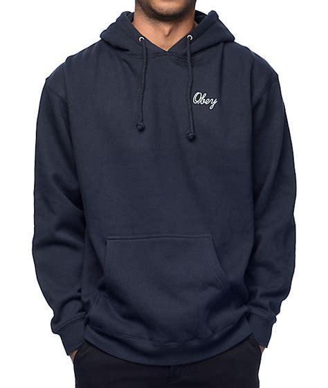 Jaket Zipper Hoodie Sweater Obey 1 Herocollection navy hoodie trendy clothes