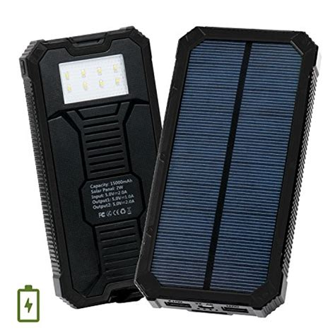 Power Bank Solar Cell 15000mah solar charger levin 15000mah solar power bank with 8 led flashlight dual usb port solar panel
