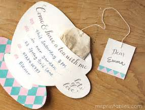 Tea bag makes an enticing invitation i think from mr printables