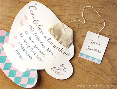 tea bag s day card template printable tea invitations mr printables