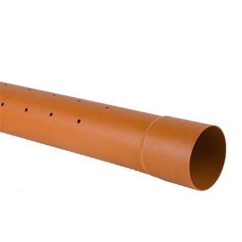 Drainage Pipe Underground Drain Pipe 110mm Blown Socket Perforated Pipe