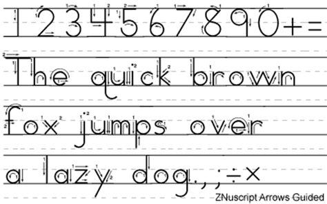 Zaner Bloser Manuscript Fonts