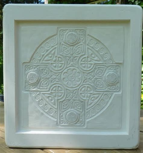 Handcrafted Ceramic Tiles - decorative handmade ceramic tile celtic cross mold done