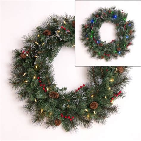 wreath with lights battery operated
