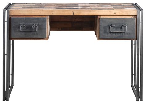 metal and wood computer desk computer desk made of recycled boat wood and industrial metal contemporary desks and hutches