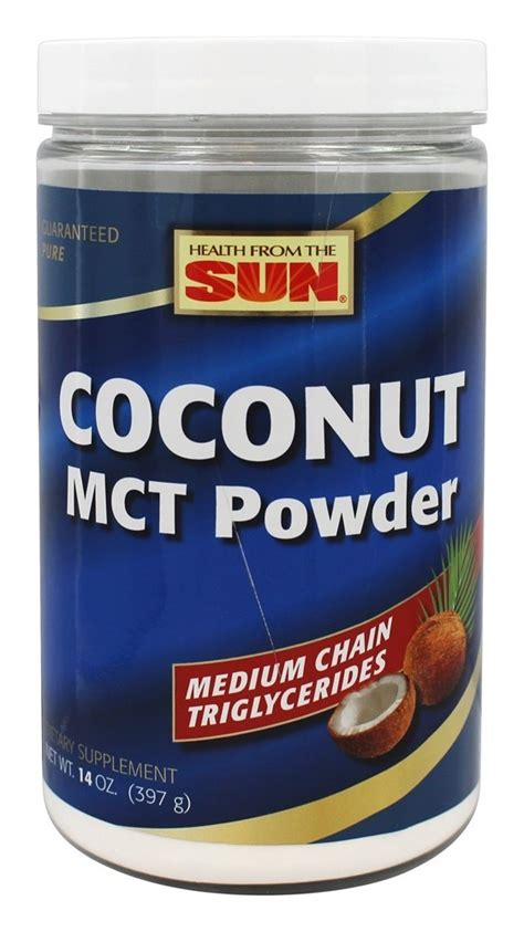Coconut Powder Vitamin buy health from the sun coconut mct powder 14 oz at luckyvitamin