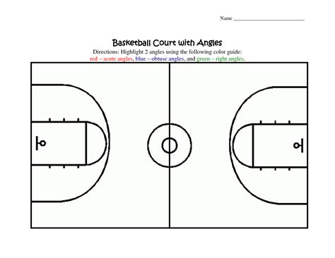 basketball court design template court dimensions diagram get free