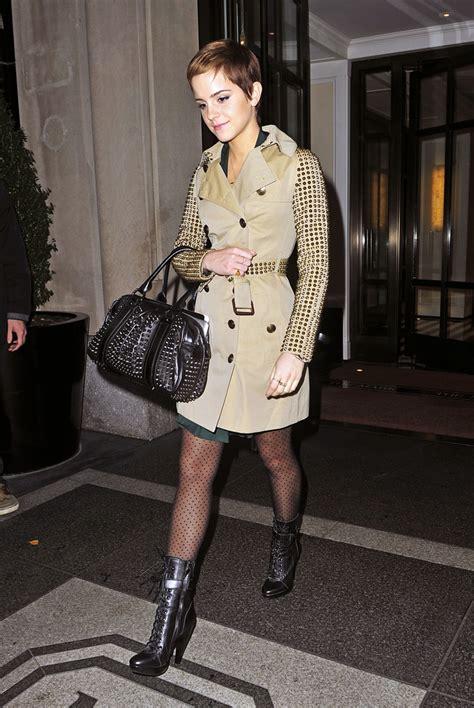 emma watson jacket emma watson trenchcoat emma watson looks stylebistro