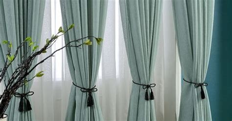 Light Teal Curtains Delicate Light Teal Linen Blend Sheer Curtain Made To By Tailor2u декор окон