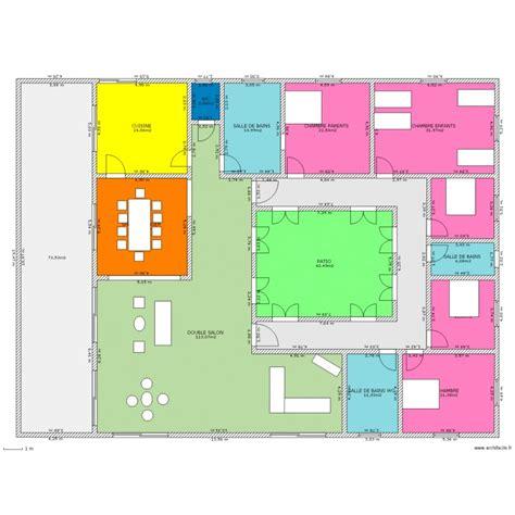 Plan Grande Maison 4717 by Maison Patio Plan 15 Pi 232 Ces 453 M2 Dessin 233 Par Murben