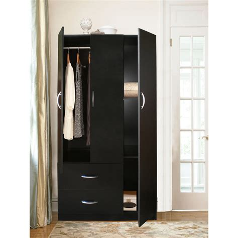 how to build an armoire closet bedroom interesting black armoire wardrobe with curtain